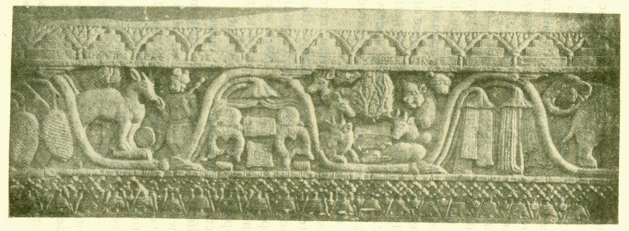 Fig. 12. — Scrollwork Ornament As Used Outside Houses And On Topes In Buddhist India. [From the Bharahat Tope. Pl. xliii.]